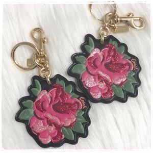 NEW! Coach Rose Flower Key Chain FOB